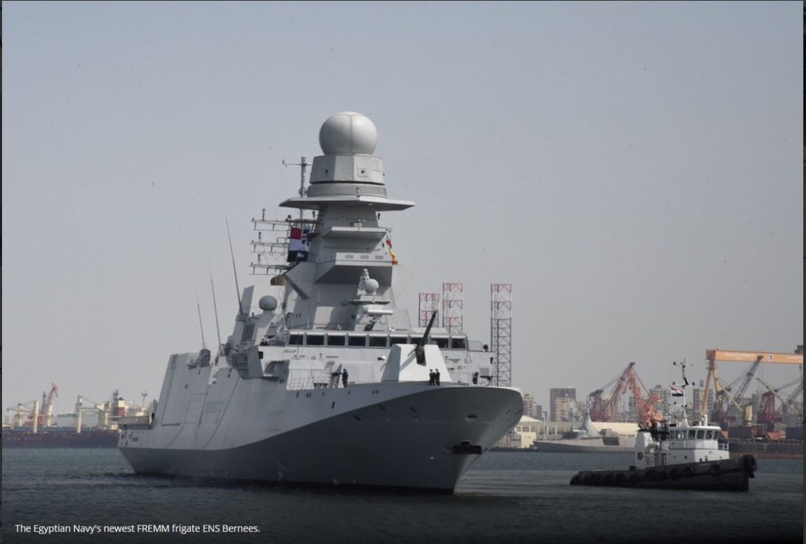 Second ex-Italian FREMM frigate delivered to Egypt