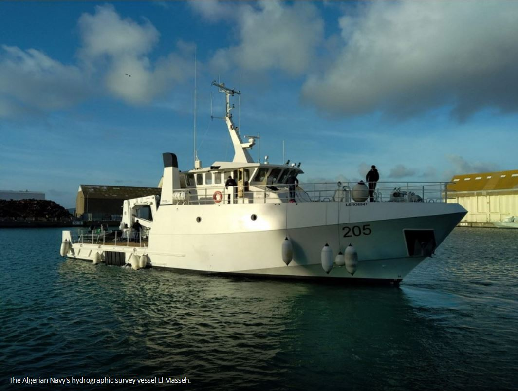 Algeria preparing to receive hydrographic survey vessel from France's Ocea