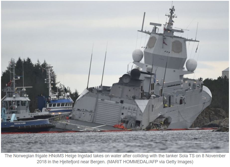 Report finds that damage control failures led to sinking of RNoN frigate