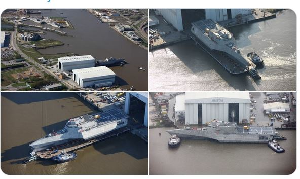 Austal USA launches US Navy's newest LCS