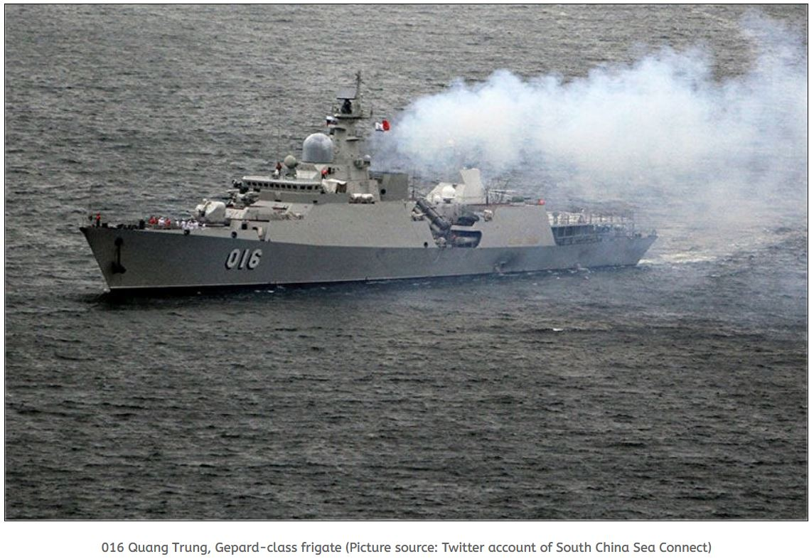 Vietnam frigate conducts drills in South China Sea