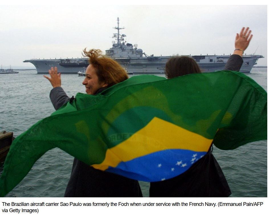 Brazilian group seeks to stop aircraft carrier sale to Turkish company
