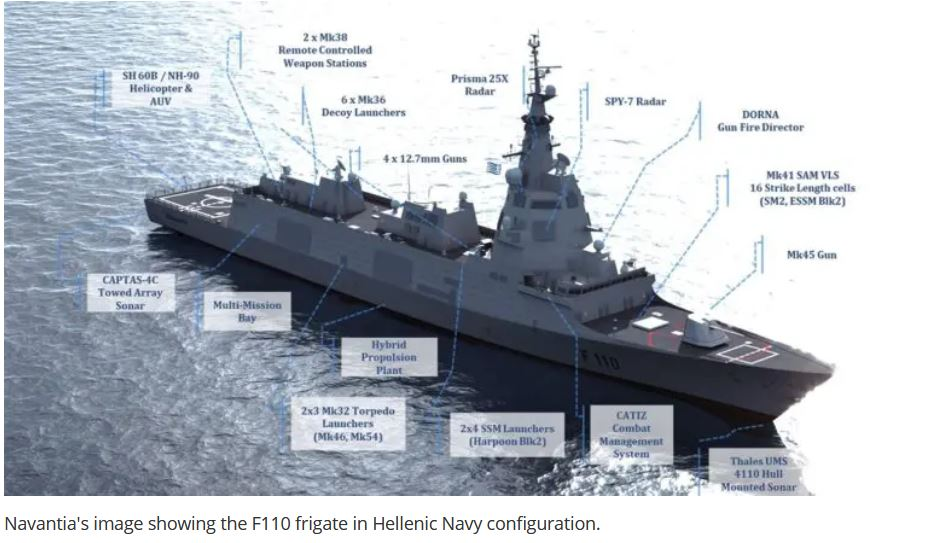 Spain's Navantia Proposing Two New Frigate Designs to the Hellenic Navy
