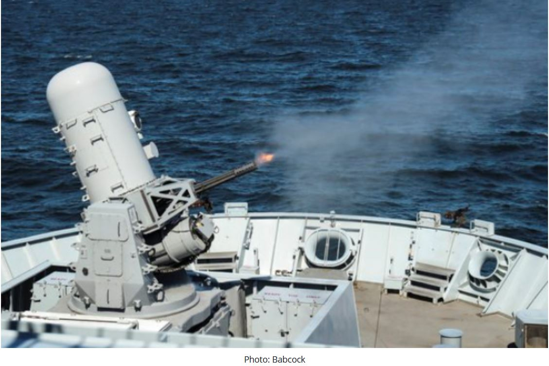 Babcock to continue in-service support to Royal Navy's Phalanx CIWS
