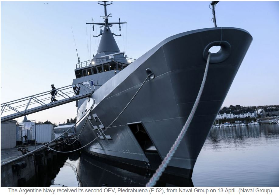 Naval Group delivers second OPV to Argentine Navy