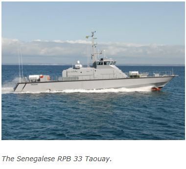 France's Ufast delivers patrol boat Taouay to Senegal