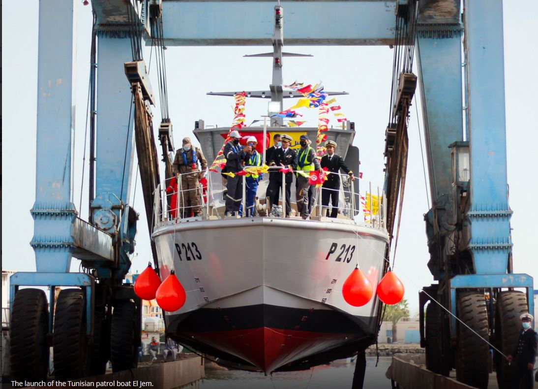 Tunisia launches another locally built patrol boat
