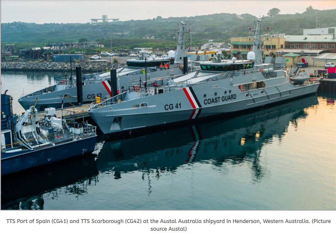 Austral Australia delivers two Cape-class Patrol Boats to the Trinidad and Tobago Coast Guard