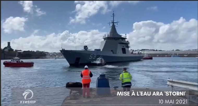 Argentine Navy's third new OPV launched