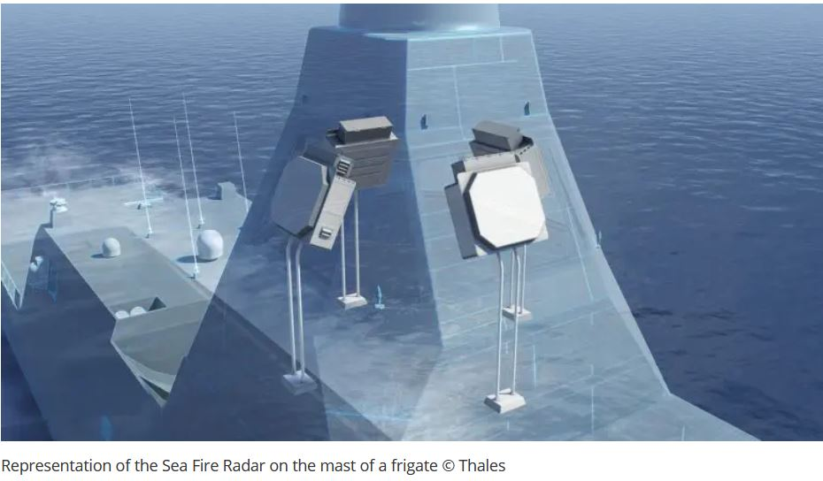 Thales delivers first Sea Fire fully digital radar with active antenna for France's future FDI frigates