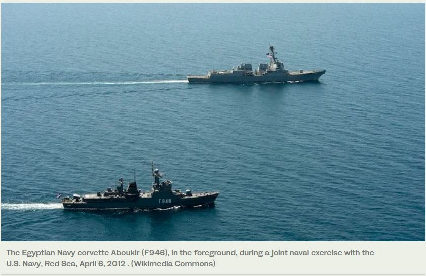 Egyptian and Italian navies carry out training in the Mediterranean