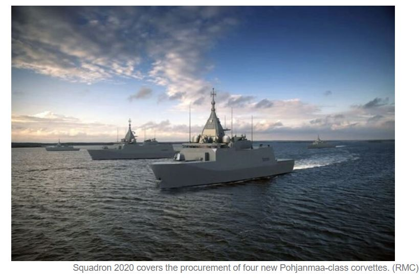 WE Tech to provide WE Drive for Finnish Navy Squadron 2020 corvettes