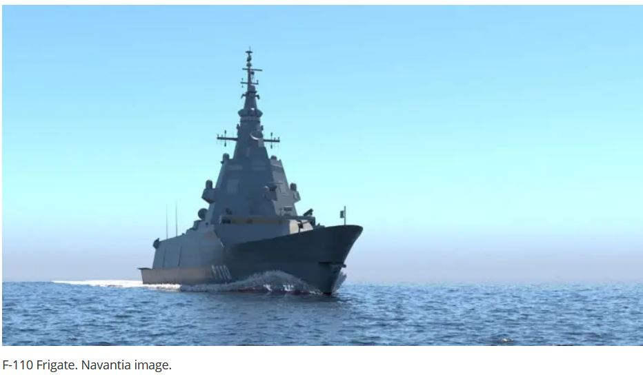 Spain's F-110 Frigate Program Successfully Passes Preliminary Design Review