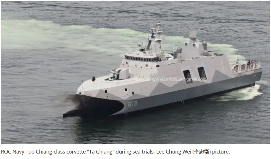 Taiwan's first upgraded and modified Catamaran Corvette started Sea Trial
