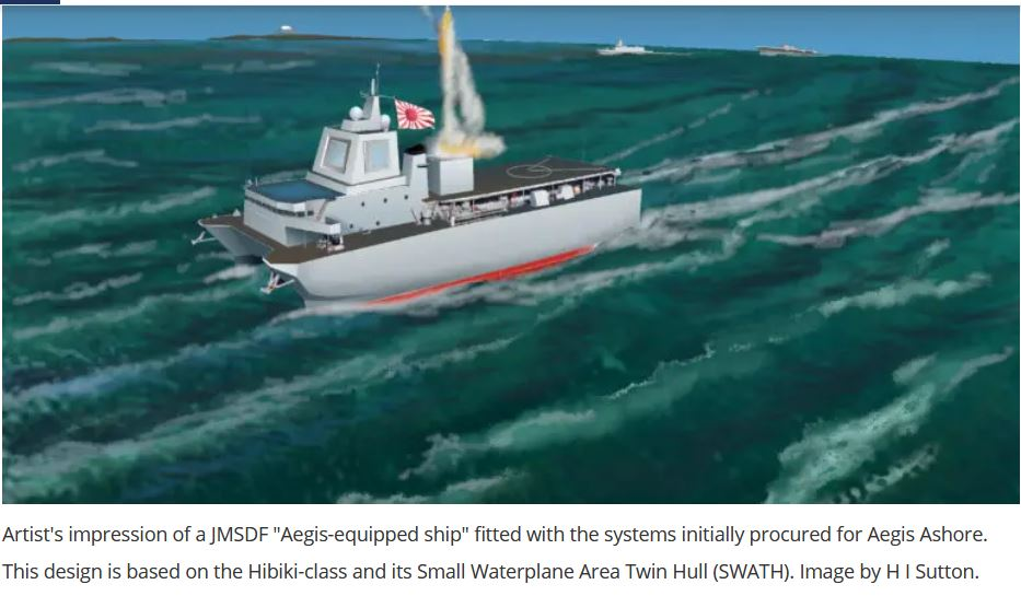 Japan's MoD New Aegis-Equipped Missile Defense Ships May Be Multihulls