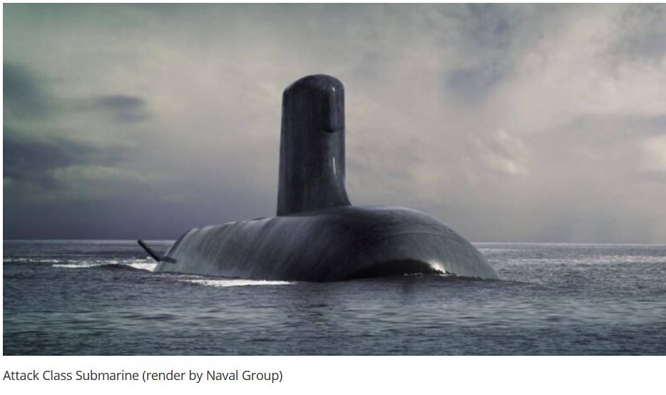 Attack Class Submarine : French President and Australian PM Confirm Strong Partnership