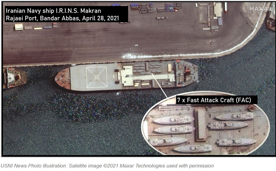 Iranian Warship Thought to be Headed to Venezuela Left Port with 7 High-Speed Missile Boats Aboard