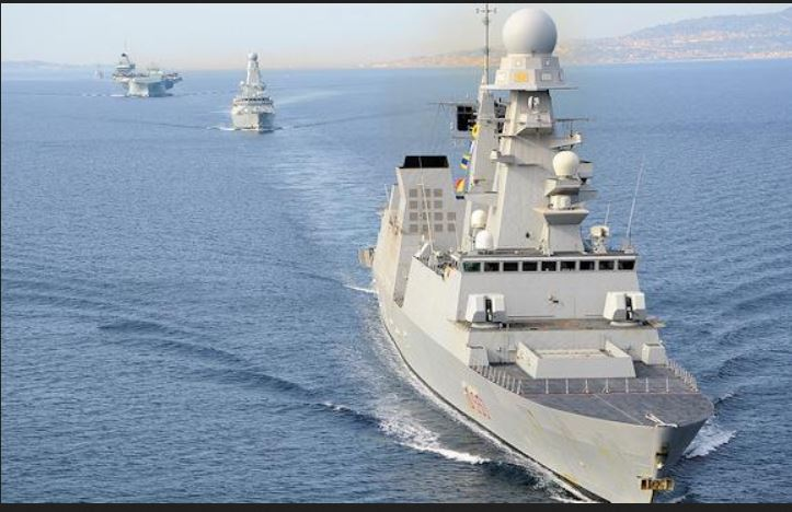 Nave Doria ends its merger with the UK Carrier Strike Group
