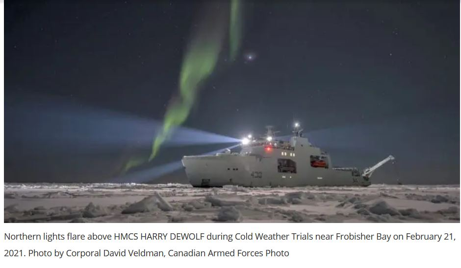 Royal Canadian Navy Commissioned Her First Arctic And Offshore Patrol Ship