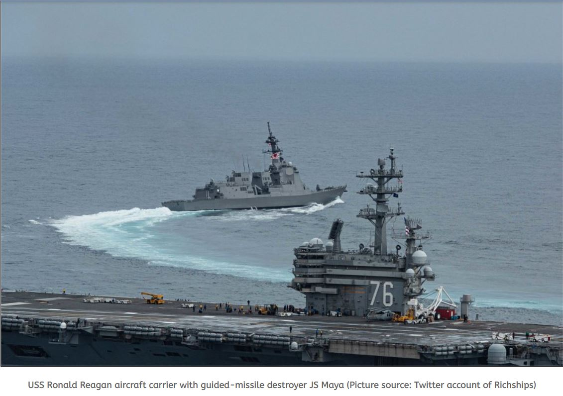USS Ronald Reagan CSG conducts exercise with JMSDF