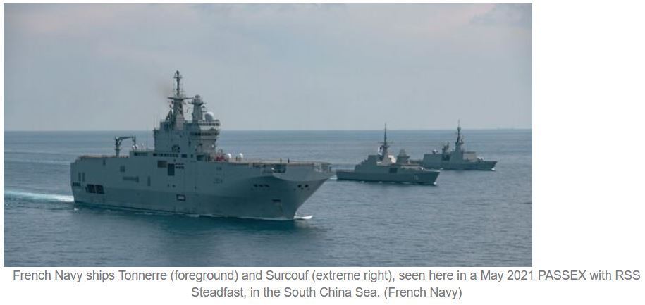 French, Singapore armed forces enhance interoperability with inaugural deck landings