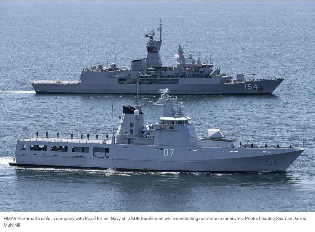 Training manoeuvres with Brunei Navy a success