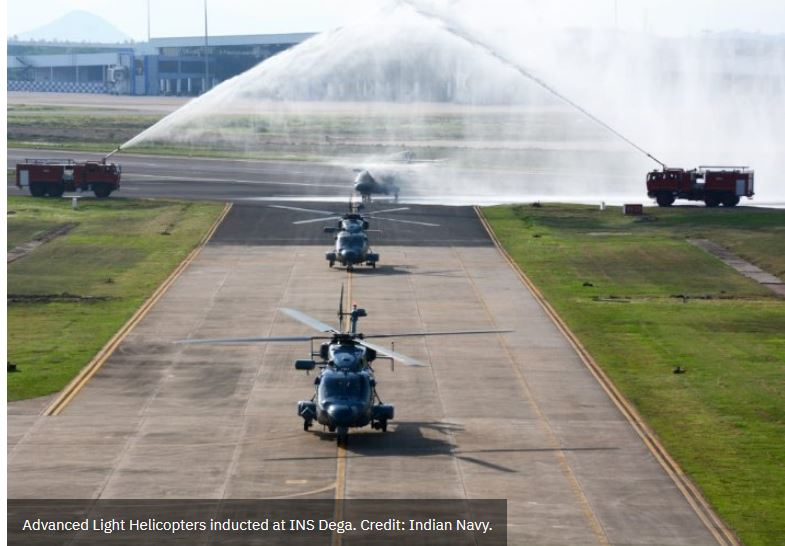Indian Navy inducts three ALH MK III helicopters