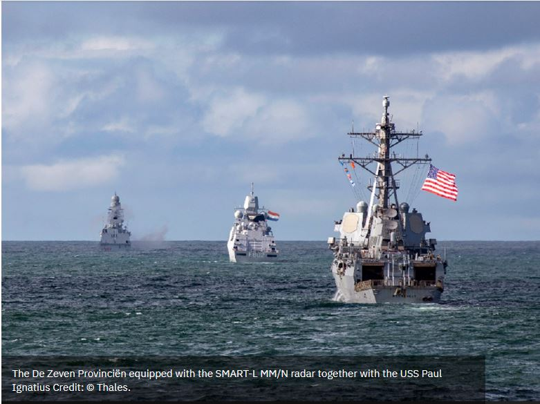 US Navy destroyer uses Thales' radar for SM-3 Launch on Remote test