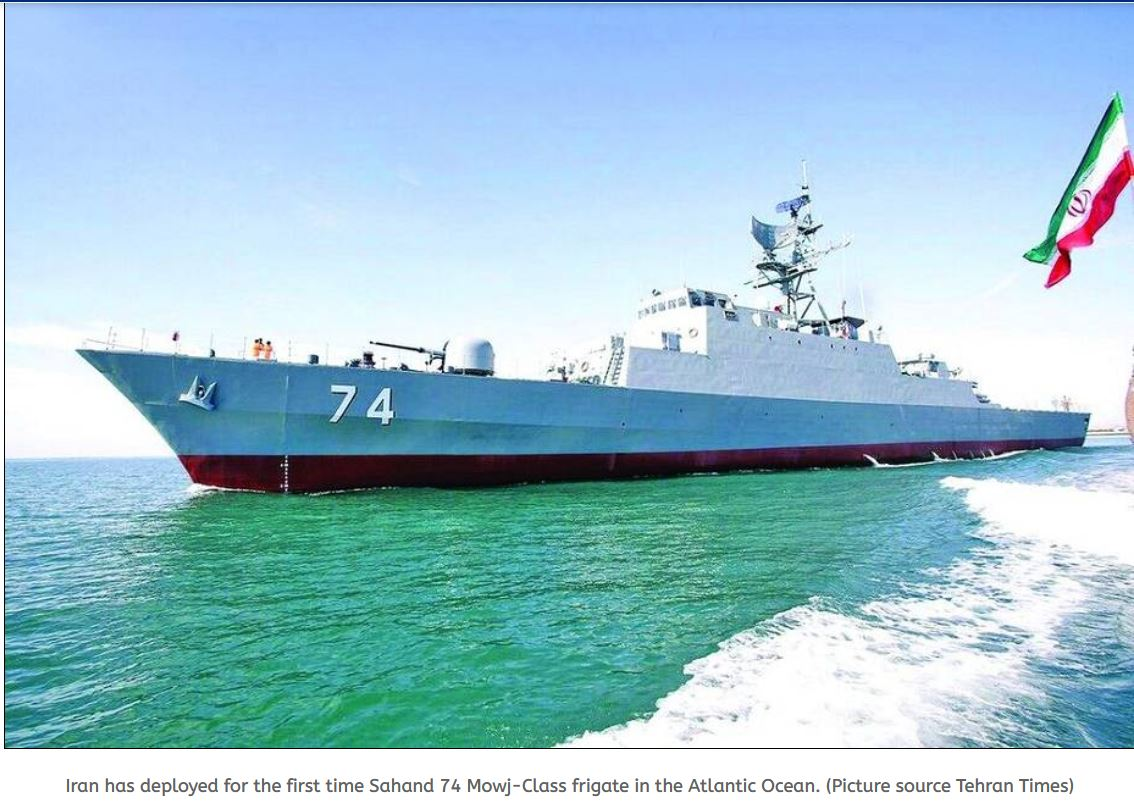 Iranian navy destroyer and sea based deployed for the first time in Atlantic Ocean