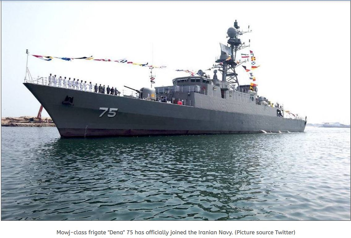 Home-made Mowj-Class frigate Dena officially joined the Iranian Navy