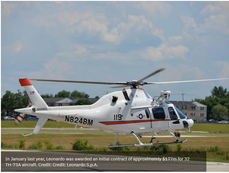 Leonardo officially hands over first TH-73A trainer to US Navy