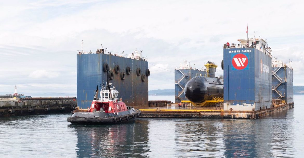 Canada's HMCS Corner Brook sub returns to the water
