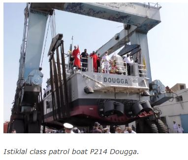 Tunisia launches another domestic patrol boat; authorises new 50 m vessel