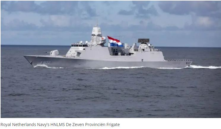 French And Dutch Navy Successfully Conducted Joint Naval Cooperative Watch