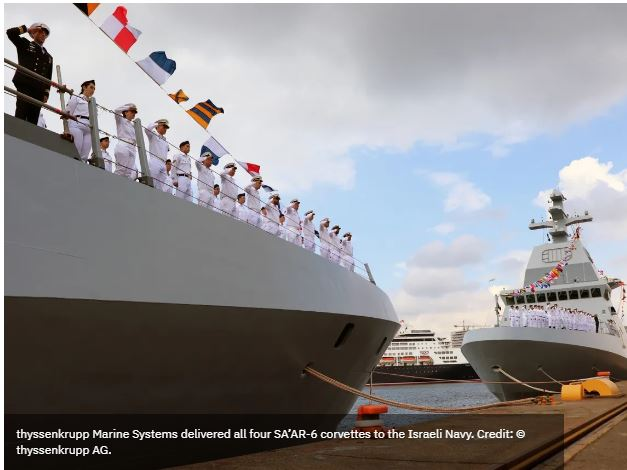 TKMS delivers third and fourth SA'AR 6-class corvettes to Israeli Navy