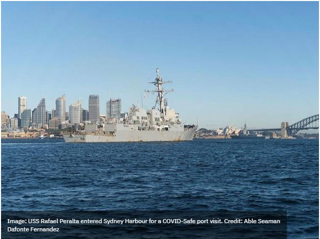 Japan, South Korea, and US vessels reach Sydney for quadrilateral exercise