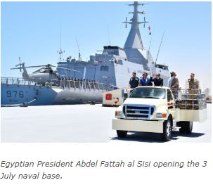 Egypt opens new naval base close to border with Libya