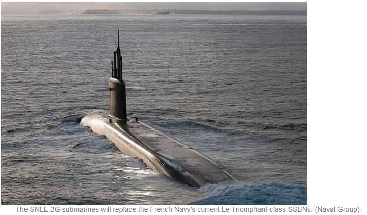 Naval Group places first SNLE 3G submarine contracts