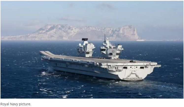 Royal Navy Aircraft Carrier HMS Prince Of Wales Made Her First Stop Overseas