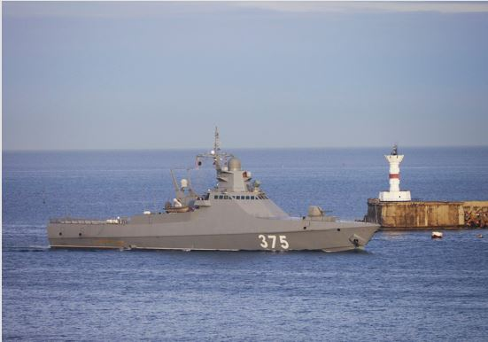Exercise to ensure the safety of navigation and combat training of naval forces at sea held at the Black Sea Fleet