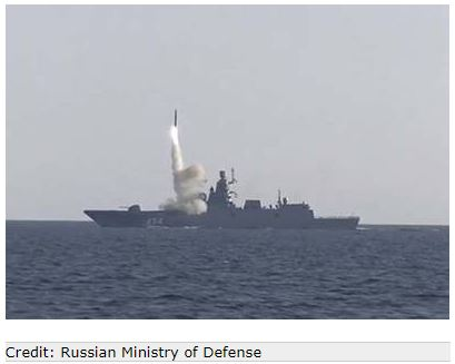 Successful Test: Russian Warship Fires Hypersonic Missile Zircon at Ground Target