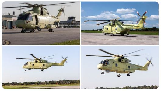 Future Polish Navy AW101 Helicopter Flies For The First Time
