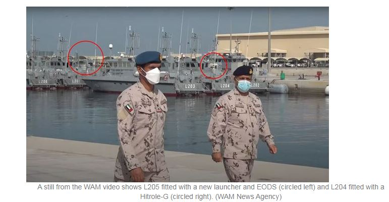 New launcher fitted to just one of the UAE's Ghannatha boats