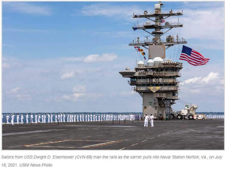 IKE is Back: USS Dwight D. Eisenhower Wraps Up Back-to-Back Deployments