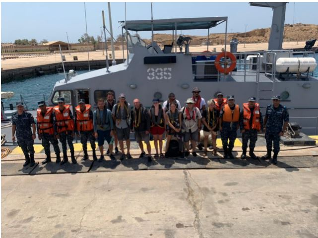 Egyptian Navy rescues passengers of Swiss sailing yacht in Red Sea