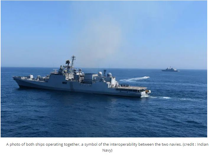INS Tabar Completes Maritime Partnership Exercise With French Navy
