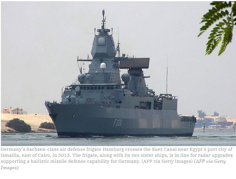 Germany readies frigates for ballistic missile defense missions