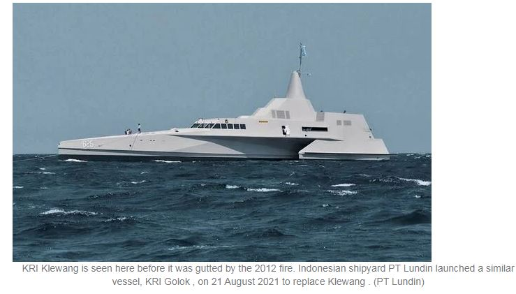 Indonesian shipyard launches replacement for Klewang-class trimaran lost in 2012 fire