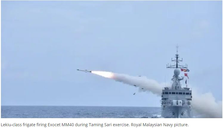 Royal Malaysian Navy Successfully Conducts Complex Anti-Ship Missile Firings
