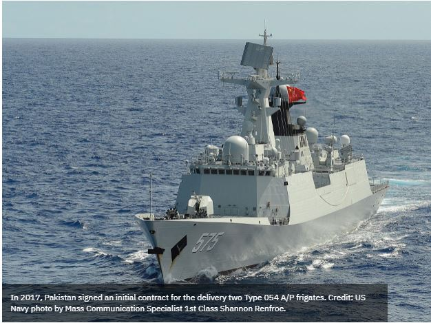 China launches third Type-054 frigate for Pakistan Navy